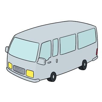 Cartoon minivan