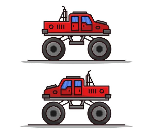 Cartoon monster auto