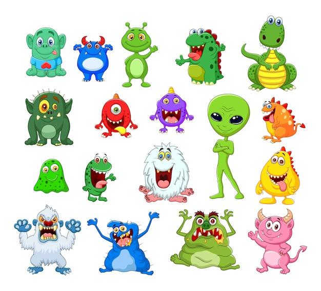 Cartoon monster collectie set