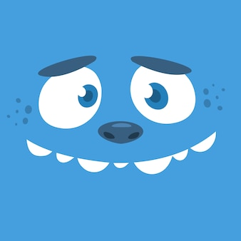 Cartoon monster gezicht avatar. halloween monster