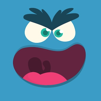 Cartoon monster gezicht avatar. halloween monster