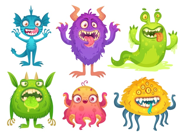 Cartoon monster mascotte