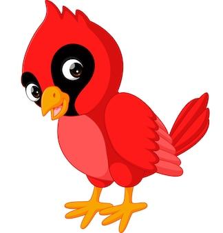 Cartoon mooie hoofdvogel