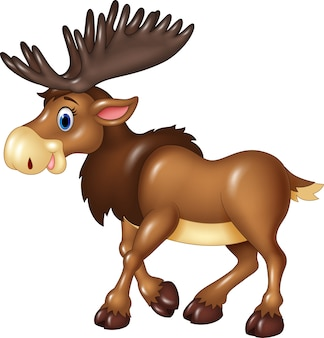 Cartoon moose expressie