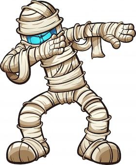 Cartoon mummie betten