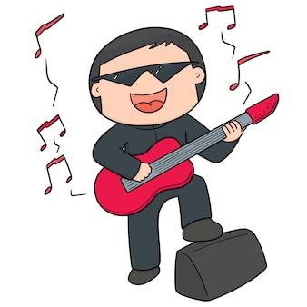 Cartoon muzikant