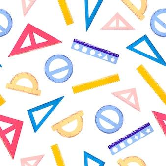 cartoon naadloze patroon met verschillende linialen op witte achtergrond voor web, print, doek textuur of behang.