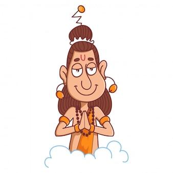 Cartoon narad muni illustratie.