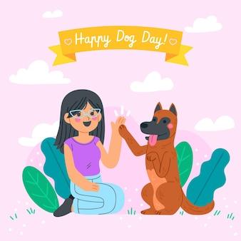 Cartoon nationale hond dag illustratie