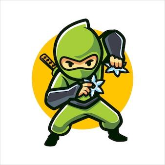 Cartoon ninja shuriken