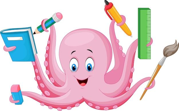 Cartoon octopus bedrijf briefpapier