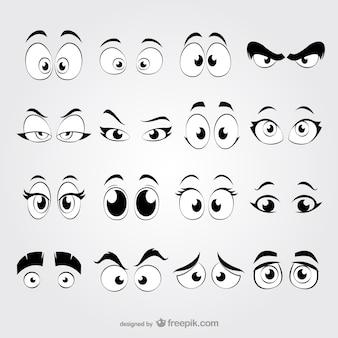 Cartoon ogen