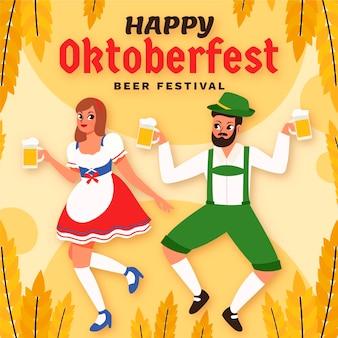 Cartoon oktoberfest illustratie