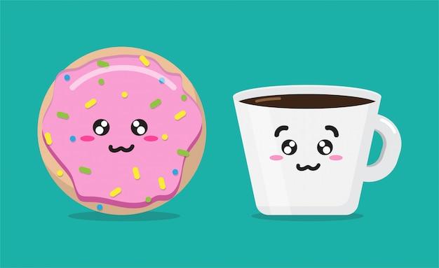 Cartoon ontbijt ochtend achtergrond