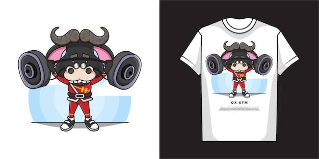 Cartoon os tshirt ontwerp