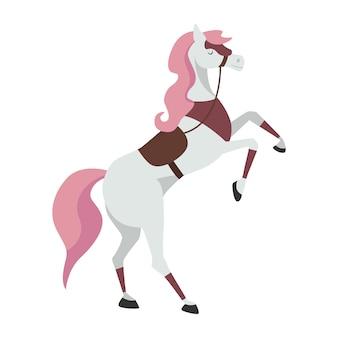 Cartoon paard voor een illustratie van een ridder