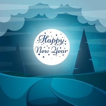 Cartoon papier gelukkig nieuw jaar