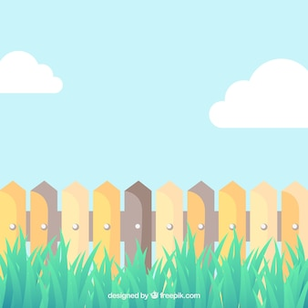 Cartoon picket fence