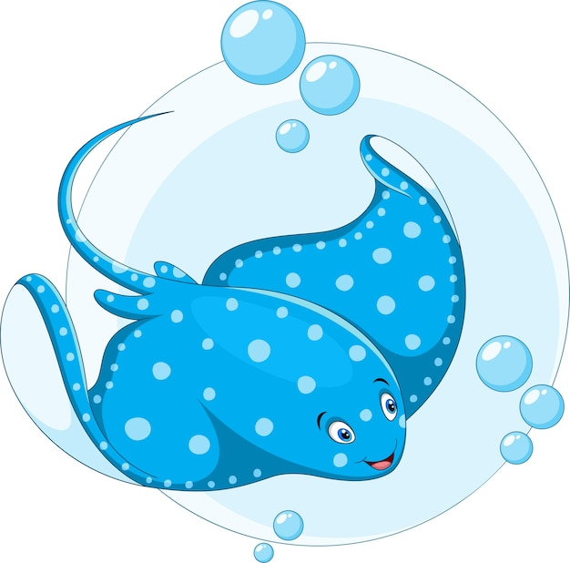 Cartoon pijlstaartrog vis