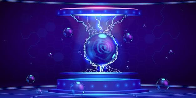 Cartoon podium achtergrond ontwerp illustratie Gratis Vector