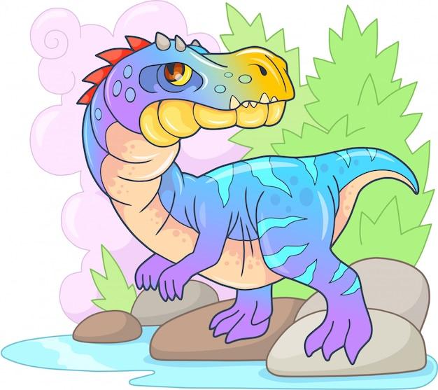 Cartoon prehistorische dinosaurus baryonyx