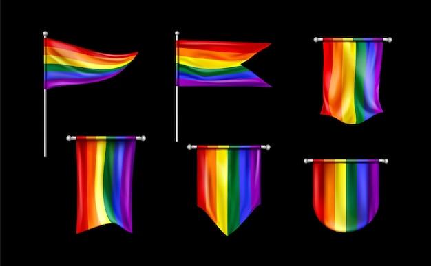 Cartoon pride-dag vlag collectie