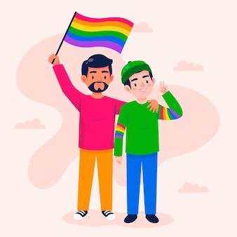 Cartoon pride day illustratie