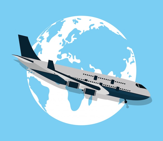 Cartoon reizen en vervoer