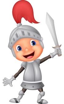 Cartoon ridder jongen