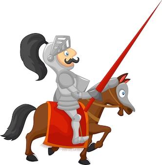 Cartoon ridder