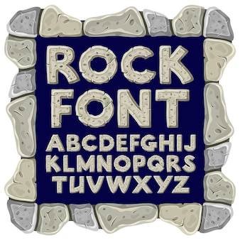 Cartoon rock alfabet
