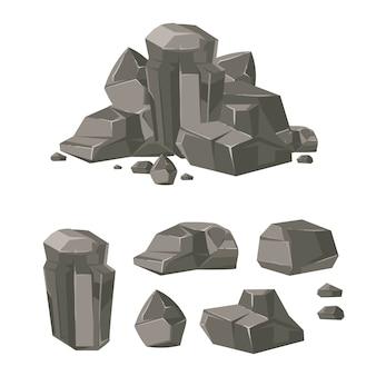 Cartoon rock kei steen set