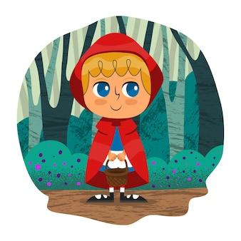 Cartoon roodkapje illustratie