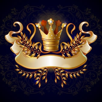 Cartoon royal gold crown sjabloon