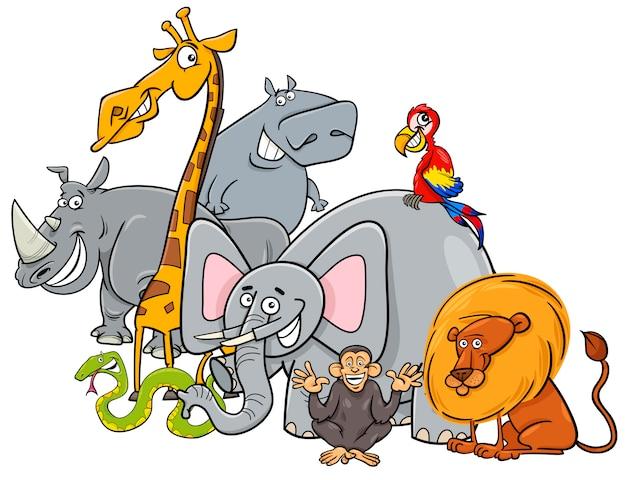 Cartoon safari dieren groep