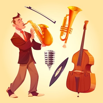 Cartoon saxofonist