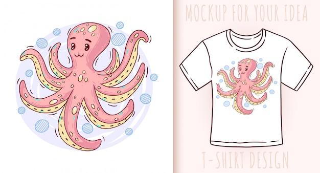 Cartoon schattige baby octopus.