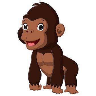 Cartoon schattige babygorilla