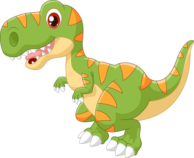 Cartoon schattige dinosaurus