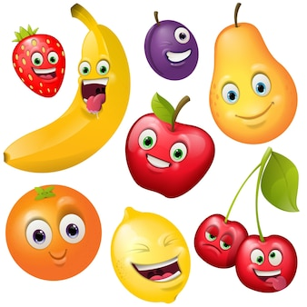 Cartoon schattige fruts-tekenverzameling