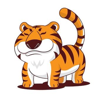 Cartoon schattige mollige tijger