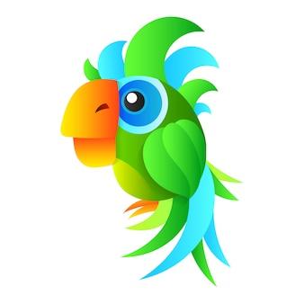 Cartoon schattige papegaai