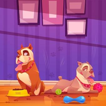 Cartoon schattige pitbull illustratie