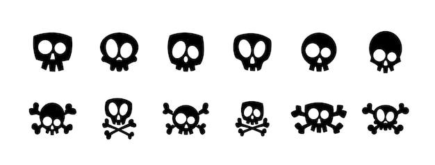 Cartoon schedel. verzameling.