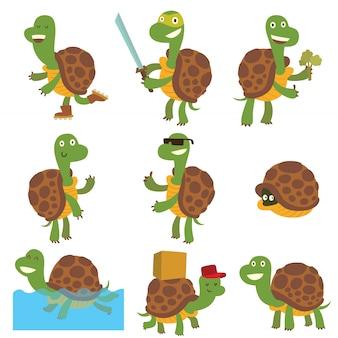 Cartoon schildpadden set.