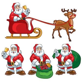 Cartoon set van de kerstman