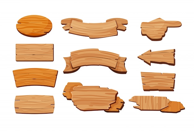 Cartoon set van houten borden