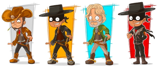 Cartoon sheriff en cowboy karakter