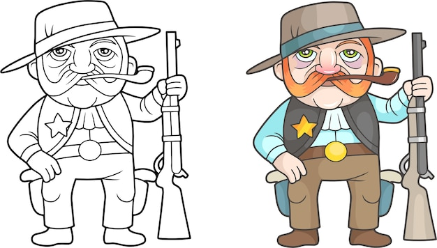Cartoon sheriff illustratie