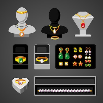 Cartoon sieraden accessoires set